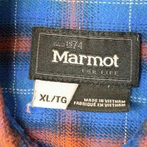 Marmot Shirts - Marmot Plaid Flannel Long Sleeve Button Up Shirt